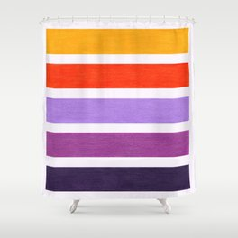 Orange & Purple Geometric Pattern Shower Curtain