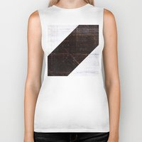wood Biker Tanks featuring wood by ONEDAY+GRAPHIC