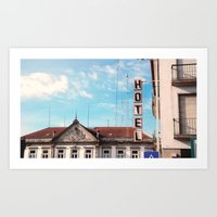 Sky Hotel Art Print