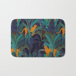 Midnight Jungle Bath Mat