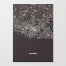 Lausanne - city map Canvas Print