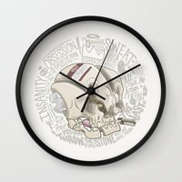 philosophy Wall Clocks featuring Philosophy Skuhl by clogtwo