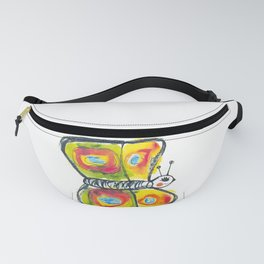 Colourfull butterfly illustration for kids Fanny Pack