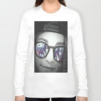 sunglasses Long Sleeve T-shirts featuring Sunglasses by Jerry Watkins