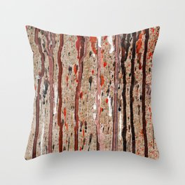 Spilling Colors Throw Pillow