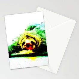 A Smiling Sloth II Stationery Cards