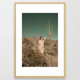 Make Like A Cactus And Get To The Point Framed Art Print