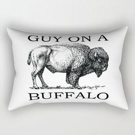 Guy on a Buffalo Rectangular Pillow