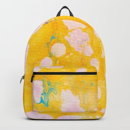 speckled marble | yellow Backpack