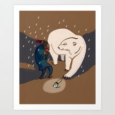 Strange encounter Art Print