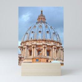 The dome of St. Peter's Basilica, Vatican, Rome, Italy. Mini Art Print