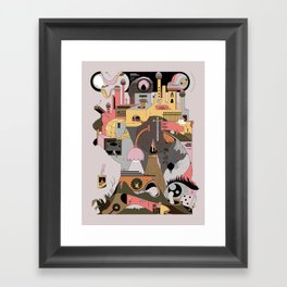 Camping at Home Framed Art Print
