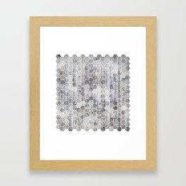 Hexagons - Concrete Framed Art Print