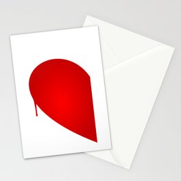 Half Heart Woman Stationery Cards