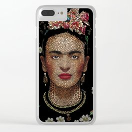Frida Kahlo dots Clear iPhone Case