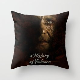 A History of Violence, David Cronenberg movie poster, Viggo Mortensen, Ed Harris Throw Pillow