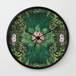 Tropical Foliage 10 Wall Clock
