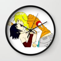 sasuke Wall Clocks featuring Sasuke y Liara by rosalia
