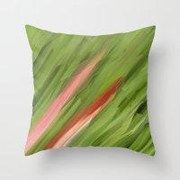 grass Throw Pillows featuring Grass by Paul Kimble