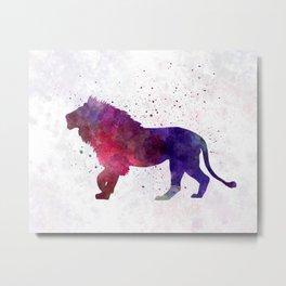 Lion 01 in watercolor Metal Print