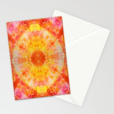 Orange Sunburst Stationery Cards