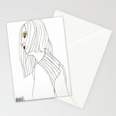 Yellow Eyeshadow Stationery Cards