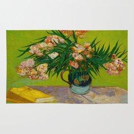 Oleanders Vincent van Gogh Oil On Canvas Floral Still Life Painting Rug