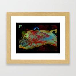 Swimming Body Framed Art Print