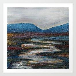 The bog river through Connemara, Ireland by Machale O'Neill Art Print