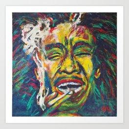 Rastafari Bob Art Print