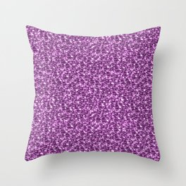 Sparkly Shiny Chunky Pink Gleaming Glitter Throw Pillow