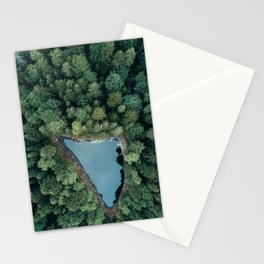 Hidden Lake in a Forest - Landscape Photography Stationery Cards