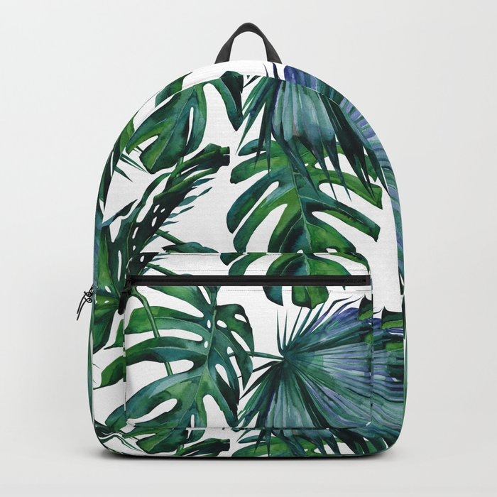 Tropical Palm Leaves Classic Backpack By Followmeinstead