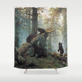 Shishkin Ivan Morning in a Pine Forest. Shower Curtain