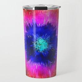 Starburst Tie Dye Watercolor Travel Mug