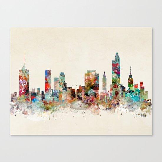 tulsa oklahoma skyline Canvas Print