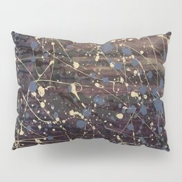 New York. Graffiti, Abstract, Blue, Purple, Pollack, Jodilynpaintings, Splatter Pillow Sham