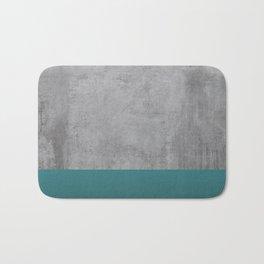 Concrete Turquoise Bath Mat