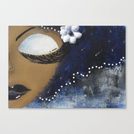 Blue and White Sassy Girl  Canvas Print