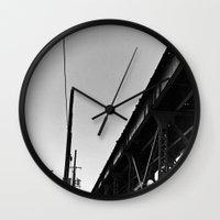 milwaukee Wall Clocks featuring Milwaukee & Leavitt by Ciara Shook