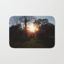 A History Of Whimsical Trees Glowing At Sundown In New Orleans Bath Mat