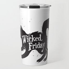 Wicked Friday Black Cat Travel Mug
