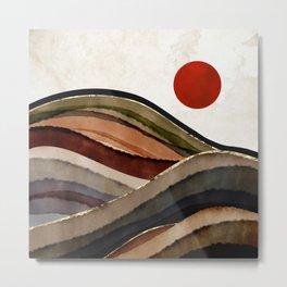 Fall Abstract Metal Print