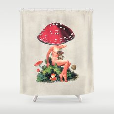 Shroom Girl Shower Curtain