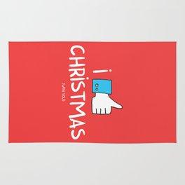 i like Christmas (with you) Rug