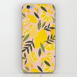 Lemon Blooms – Blush Palette iPhone Skin
