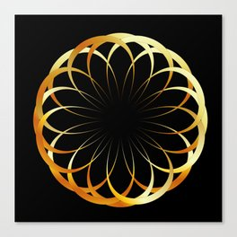 A decorative Celtic fractal flower like a mandala Canvas Print