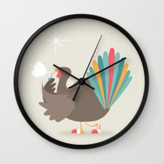 Merry Christmas - Going Cold Turkey from Shopping Sprees Wall Clock