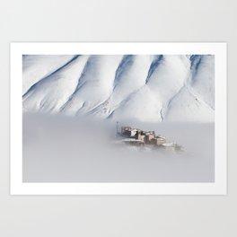 Castelluccio with snow  Art Print