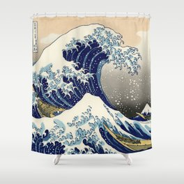 Katsushika Hokusai, The Great Wave off Kanagawa, 1831 Shower Curtain